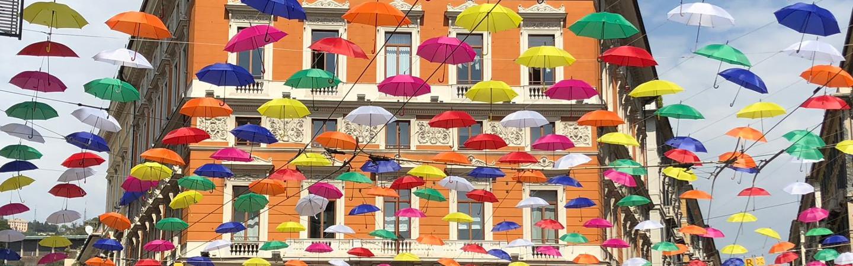 Gli ombrelli di Genova